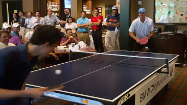 U.S. Table Tennis Olympian Timothy Wang Took On PGA TOUR Pros including Phil Mickelson and Matt Kuchar at the 2012 BMW Championship