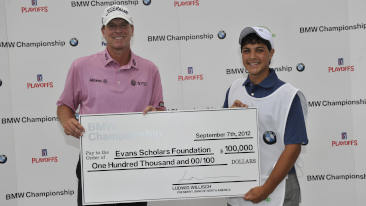 Steve Stricker's Hole-in-One at the 2012 BMW Championship Earns a $100,000 Four-Year Scholarship for a College-Bound Evans Scholar<br />