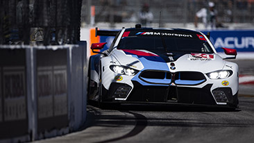 BMW Team RLL Finish IMSA Sports Car Grand Prix at Long Beach in Seventh and Eighth Positions.
