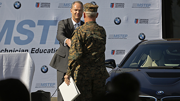 New BMW and UTI Program Prepares Service Members for Civilian Careers as BMW Automotive Technicians