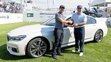 The 2017 BMW Championship kicked off at Conway Farms Golf Club in Lake Forest, IL on Wednesday, September 13 with PGA TOUR Player and 2012 BMW Championship Winner Rory McIlroy making a special delivery of the BMW Championship and FedEx Cup trophies.