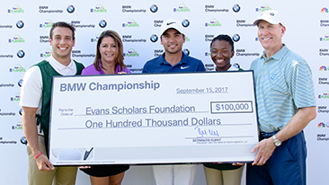 Jason Day Hole-in-One at the 2017 BMW Championship Results in BMW's Donation of Full, Four-Year $100,000 BMW Evans Scholarship in Day's Name.