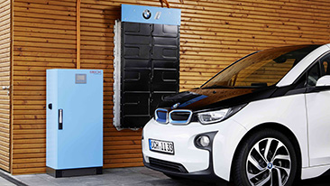 Battery storage system electrified by BMW i announced at EVS29 in Montreal.