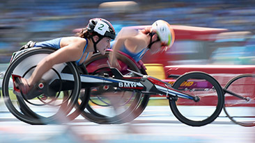 U.S. Paralympics Track and Field Team Members Bring Home Gold, Silver and Bronze Medals with BMW Racing Wheelchair