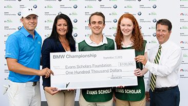 Jordan Spieth's Hole-in-One at the 2015 BMW Championship Results in BMW Donation of Full, Four-Year BMW Evans Scholarship Worth $100,000 in Spieth's Name.