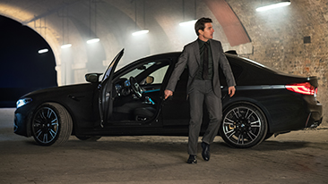 "BMW teams up with Paramount Pictures' new theatrical film, ""Mission: Impossible – Fallout,"" with the BMW M5 appearing alongside Tom Cruise as Ethan Hunt in the action-packed film with spectacular car chases and stunts."