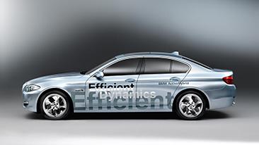 World premiere at Geneva Motorshow: The new BMW Concept 5 Series ActiveHybrid.