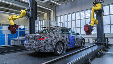 The virtual new BMW 5 Series: High-precision, fully-automated measuring technology generates 3D data model of upcoming generation