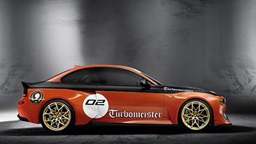 BMW 2002 Hommage celebratesthe birth of the turbocharged car.
