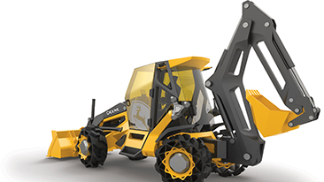 BMW Group subsidiary Designworks collaborates with John Deere on the Backhoe of the Future.