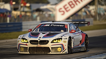 Sixth place for the no. 25 BMW M6 GTLM in the 65th running of the Twelve Hours of Sebring.