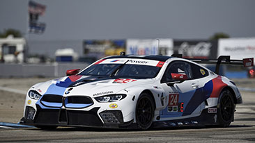 BMW M8 GTE hits the streets of Long Beach.