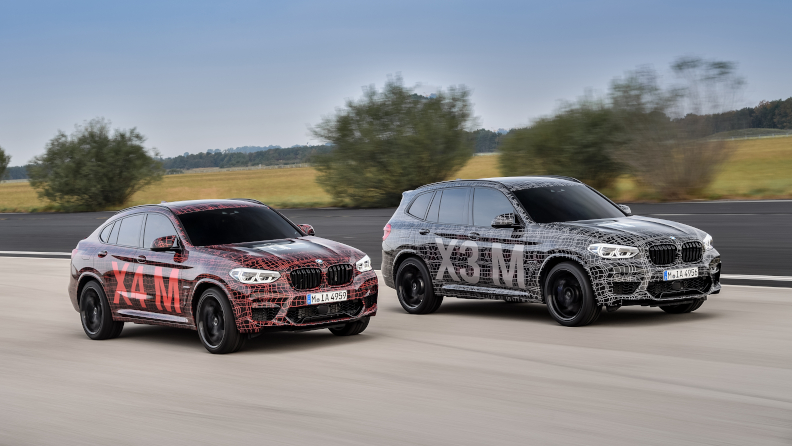 Warm-Up on the Nürburgring: First Official Presentation of the BMW X3 M and the BMW X4 M.