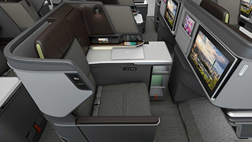 Designworks partners with EVA Air to create new business class seat.