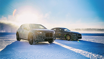 Electromobility under extreme conditions: The BMW iX3, the BMW i4 and the BMW iNEXT undergo cold testing in the Arctic Circle.