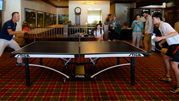 PGA TOUR Players Matt Kuchar and Freddie Jacobson Challenged Team USA Table Tennis Players Timothy Wang and Lily Zhang at the 2014 BMW Championship