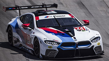 No. 24 BMW M8 GTE of Edwards and Krohn Finishes Fifth at Long Beach; No. 25 BMW M8 GTE Retired After Leading 9 Laps Early in Race.